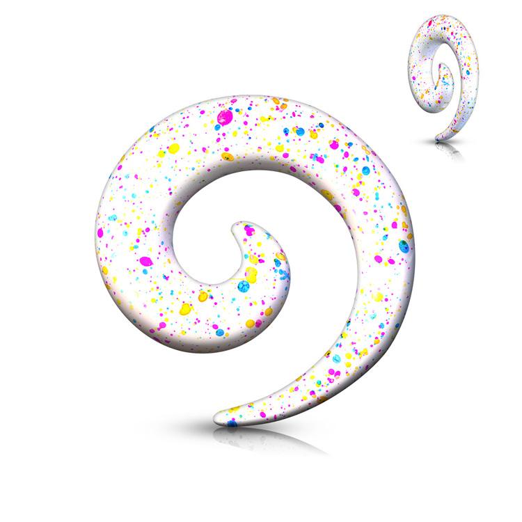 Töjspiral - Färgstänk