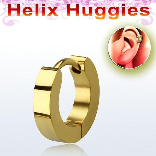 Helix huggie i guldeloxerat stål