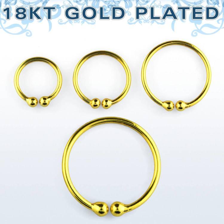 """Ring i guldpläterad 925 Silver """"Fake-Clip"""""""