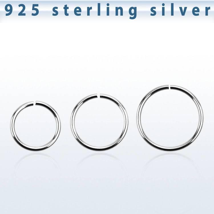 Sömlös ring i 925-silver 1mm