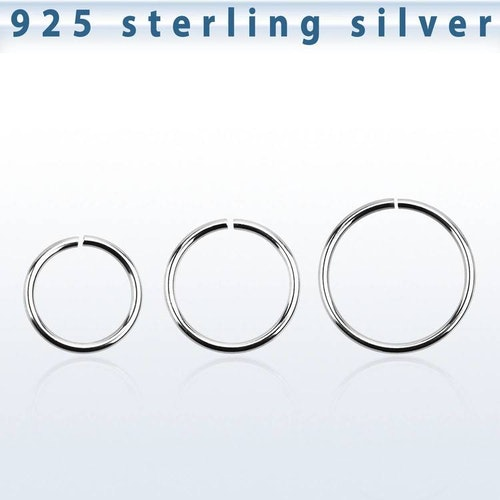 Sömlös ring i 925-silver 1mm