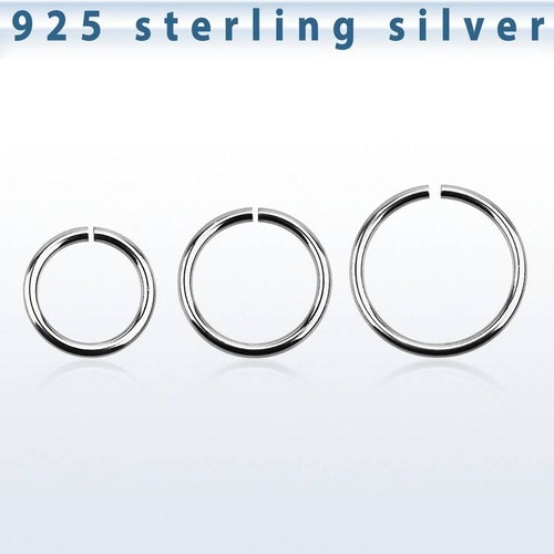 Sömlös ring i 925-silver 1.2mm