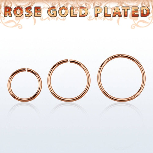 Sömlös ring i roséguldpläterad 925-silver 0.8mm