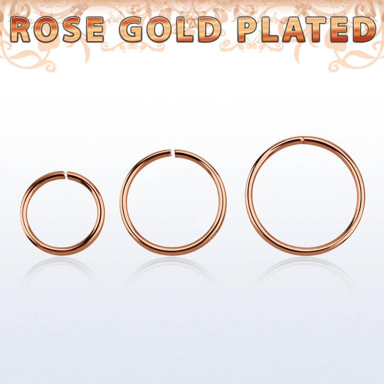 Sömlös ring i roséguldpläterad 925-silver 0.6mm
