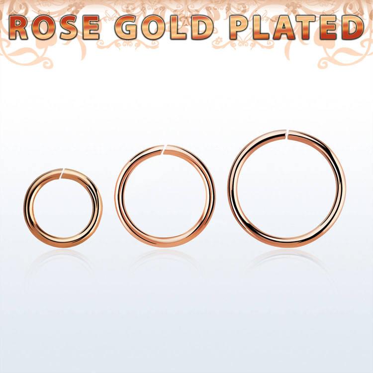 Sömlös ring i roséguldpläterad 925-silver 1mm