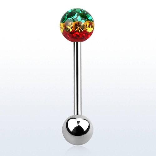 Barbell / Tungstav 1.6mm med 6mm rasta feridoboll