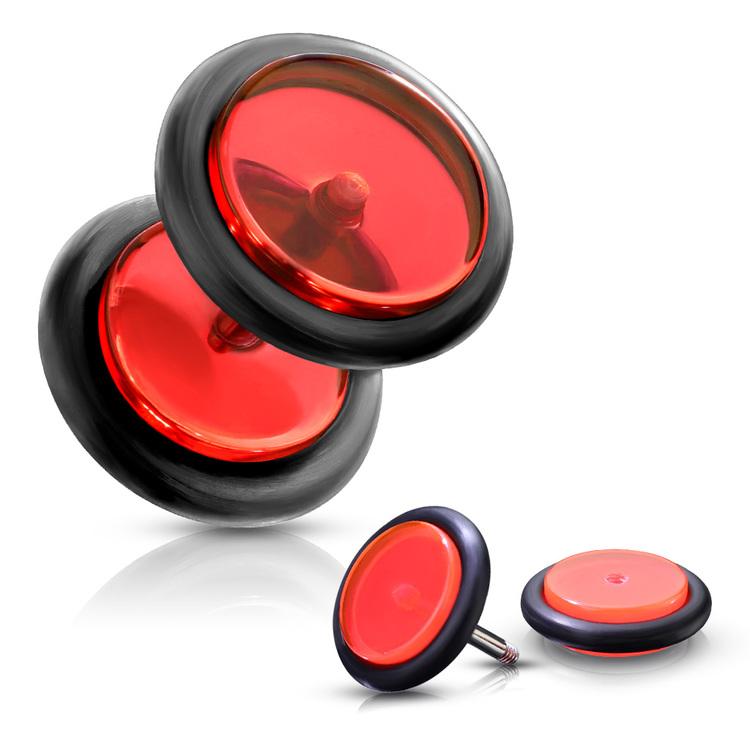 Fakeplugg Akryl med O-ringar i gummi