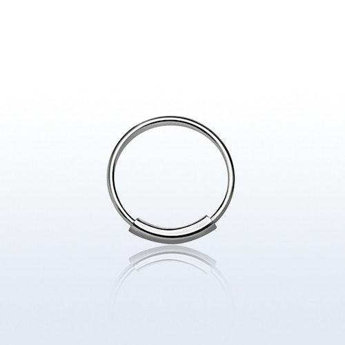 Näsring / sömlös ring i 925 silver 8mm