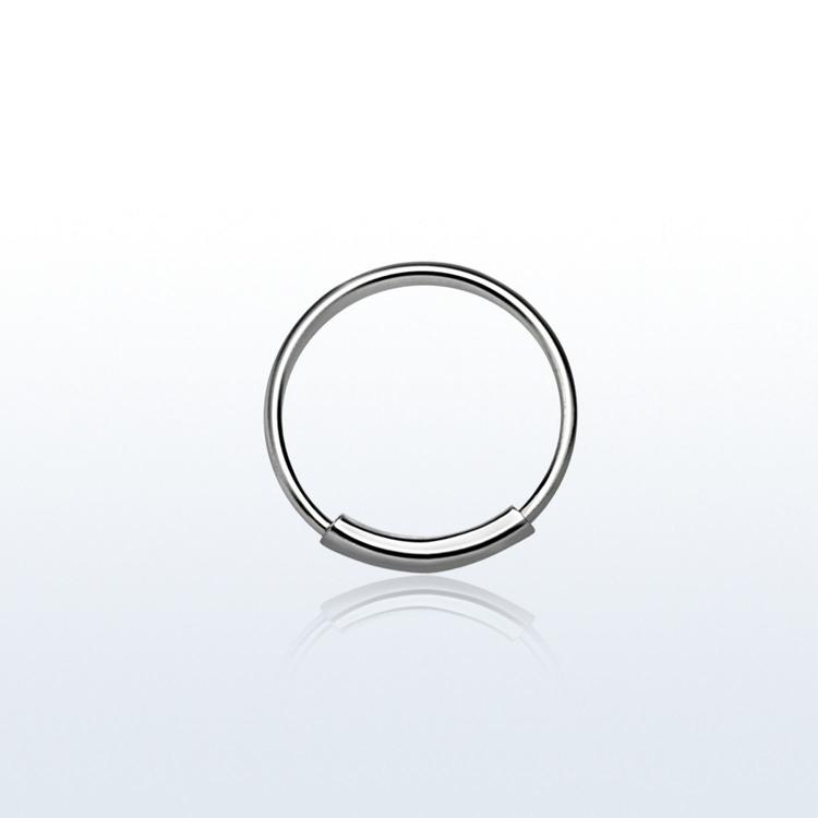 Näsring / sömlös ring i 925 silver 10mm