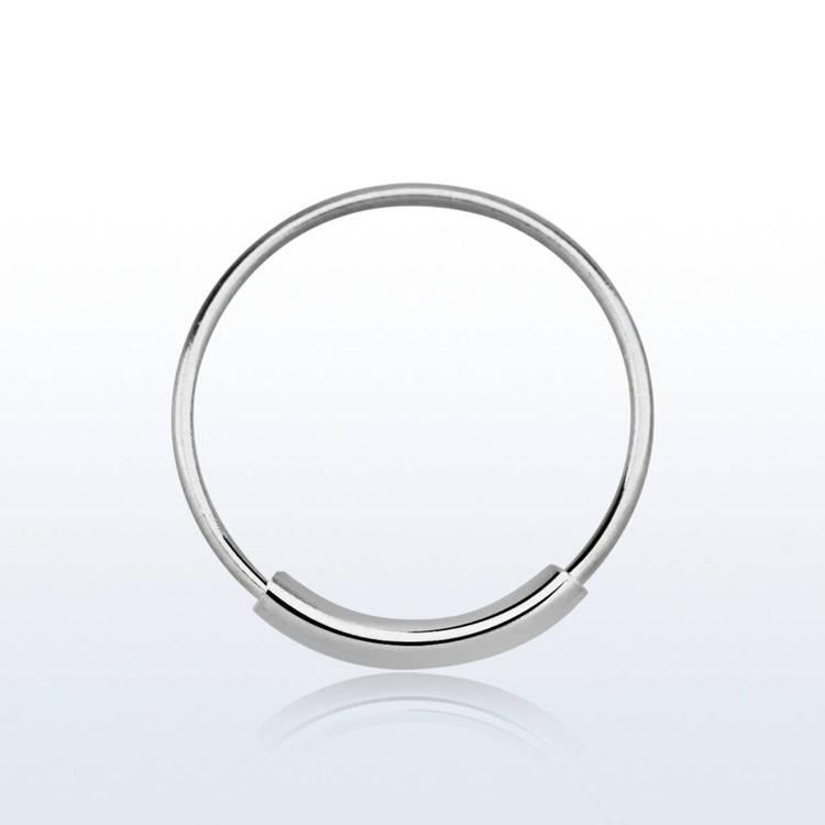 Näsring / sömlös ring i 925 silver 12mm