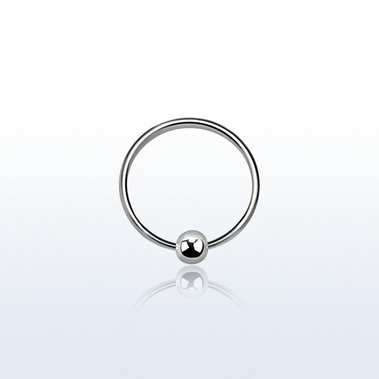 Näsring / ring med kula 925 silver 8mm