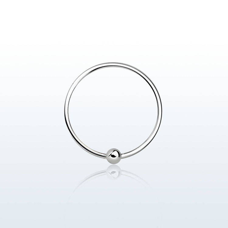 Näsring / ring med kula 925 silver 12mm