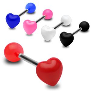 Barbell / Tungstav med hjärtformad topp