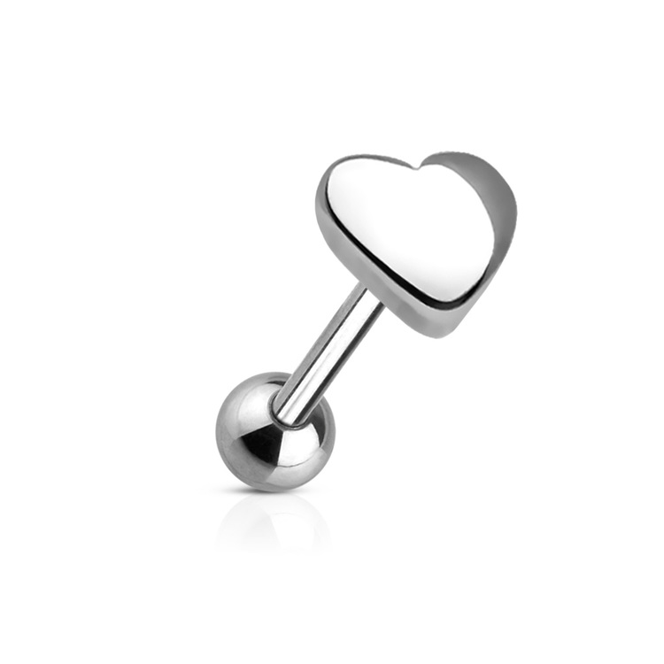 Barbell / Tungstav 1.6mm med hjärtformad topp