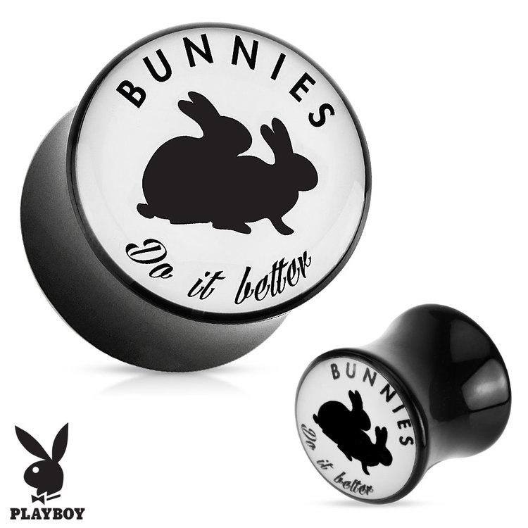 "Akrylplugg Playboy ""Bunnies do it better"""
