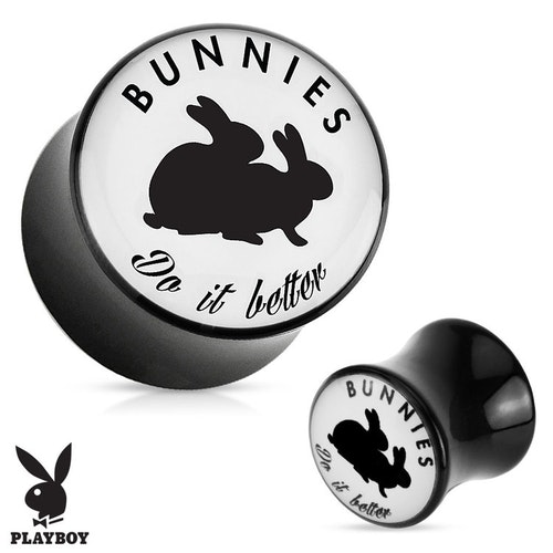 "Akrylplugg Playboy ""Bunnies do it better"""