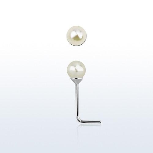 """Näspin """"Nose stud"""" i 925 silver med 3mm pärla"""