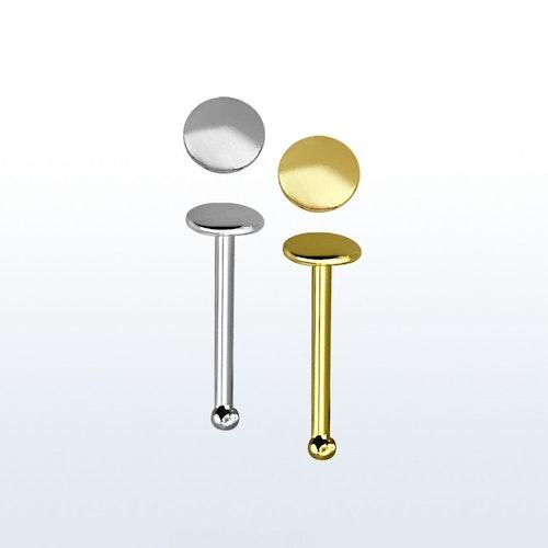 """Näspin """"Nose bone"""" i 925 silver med 2mm platt topp"""