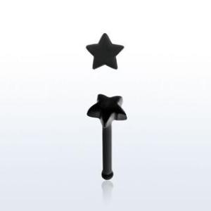 """Näspin """"nose bone"""" akrylplast med 3mm stjärna"""