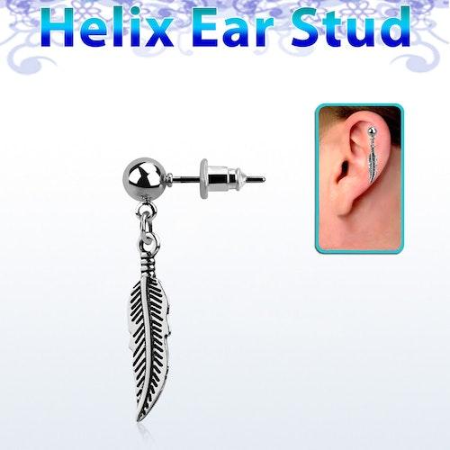 Helix örhänge - Fjäder