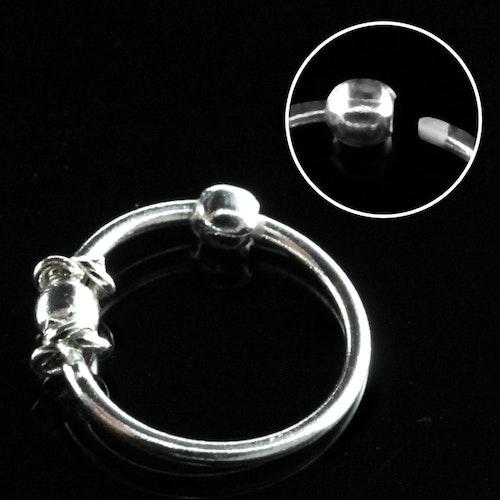 """Näsring """"Nose hoop"""" i 925 silver 2mm kula och wire-design"""