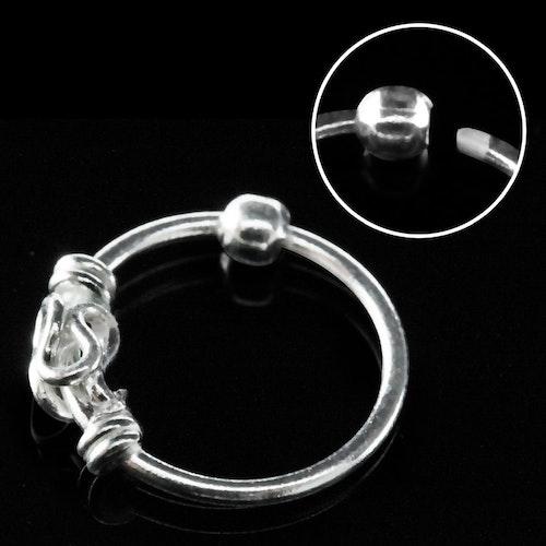 "Näsring ""Nose hoop"" i 925 silver balinese-design"