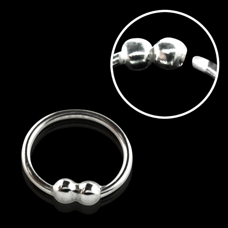 "Näsring ""Nose hoop"" i 925 silver 2 kulor-design (8mm)"