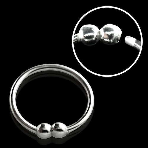 "Näsring ""Nose hoop"" i 925 silver 2 kulor-design (10mm)"