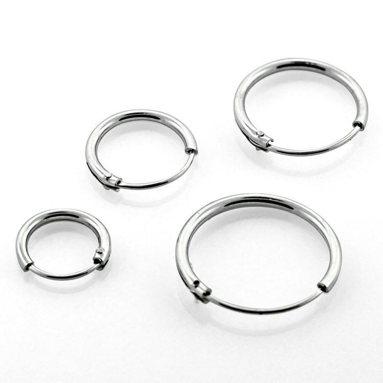 Örhänge / Hoop i 925 silver (par)
