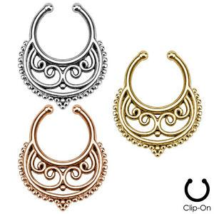 Fake septum / septum hanger med tribal