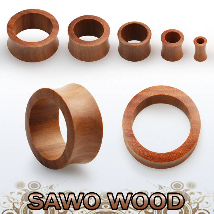 Trätunnel i sawo wood