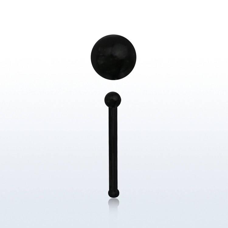 """Näspin """"nose bone"""" i svart akryl med 1.5mm boll"""