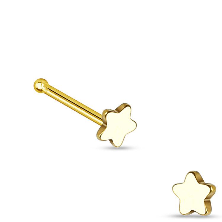 """Näspin """"Nose Bone"""" 0.8mm - Stjärna"""