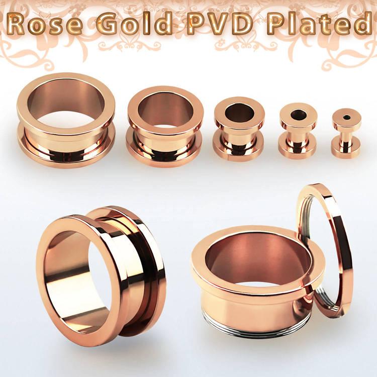PVD-Pläterad ståltunnel (roséguld)