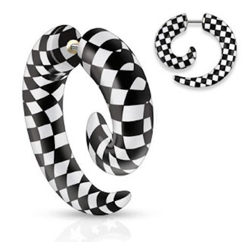 Faketöjning - Spiral med rutor