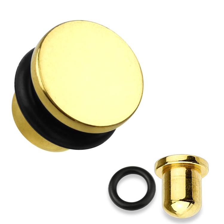 Stålplugg med platt topp och O-ring