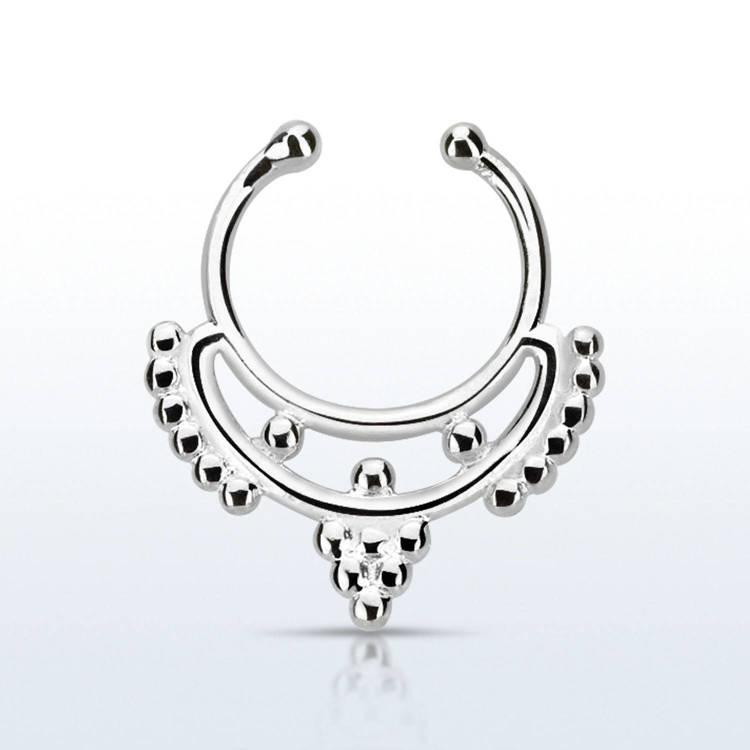 Fake septum / septum hanger i 925-silver - Mini Indian Design