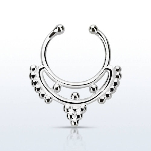 Fake septum / septum hanger i 925-silver - Mini Indian Design