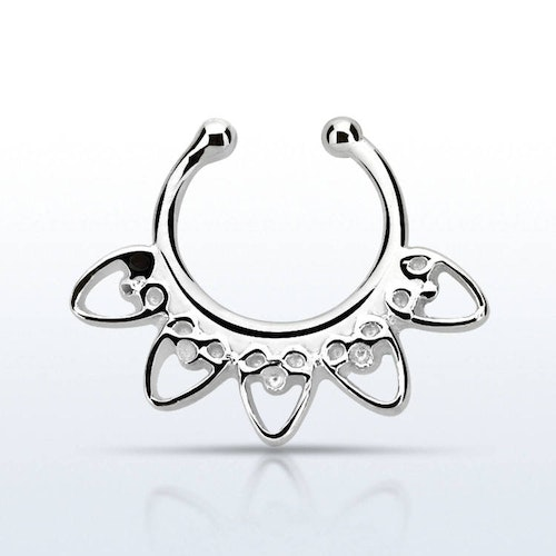 Fake septum / septum hanger i 925-silver - Indian Heart Design