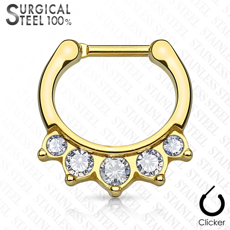 Septum clicker 1.2mm med 5 klara crystals