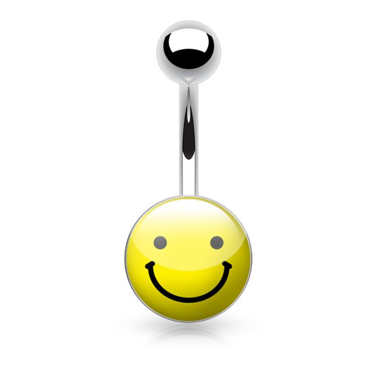 "Navelsmycke 1.6mm med logo - ""Smiley"""