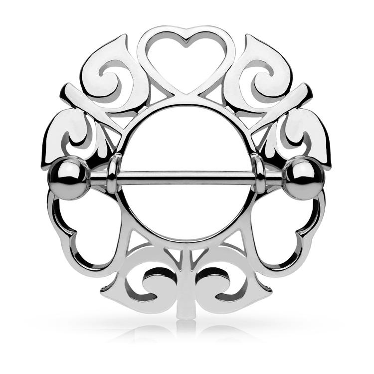 """Bröstsmycke - """"Hearts"""" tribalsköld"""