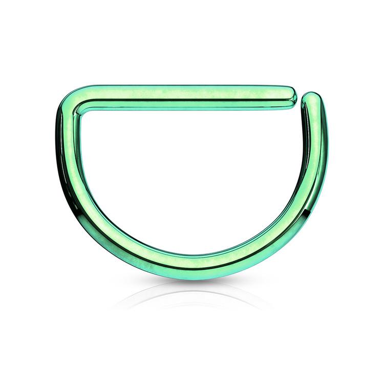 PVD-Pläterad D-Formad sömlös ring