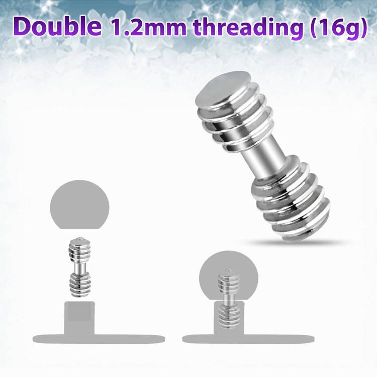 Adapter 1,2mm - 1,2mm för dermal piercing