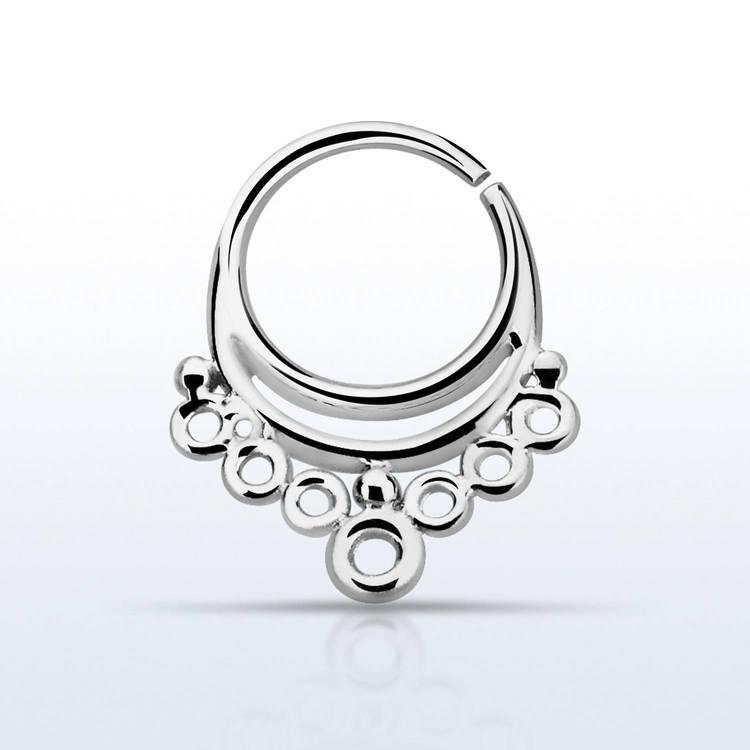 Septum piercing i 925 silver - Indian Design