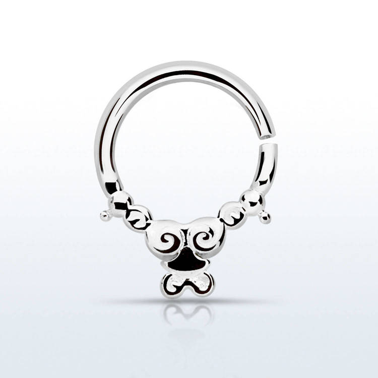 Septum piercing i 925 silver - Silver Indian Design