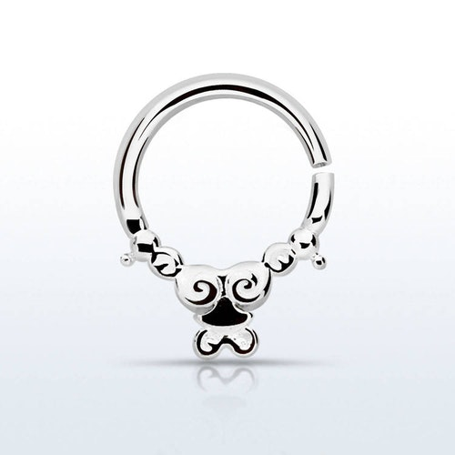 Septum piercing i 925 silver - Silver Indian Design