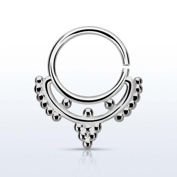 Septum piercing i 925 silver - Mini Indian Design