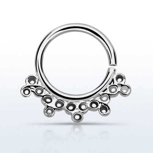 Septum piercing i 925 silver - Indian Design