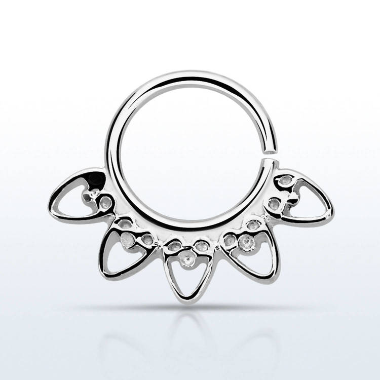 Septum piercing i 925 silver - Indian Heart Design
